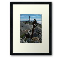 Rocks, Water And Sky Framed Print