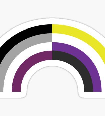 Non-Binary Asexual Rainbow Sticker