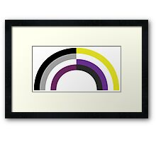 Non-Binary Asexual Rainbow Framed Print