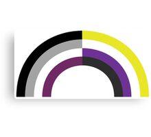 Non-Binary Asexual Rainbow Canvas Print