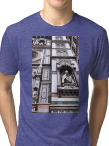 The Facade of St. Mary's Cathedral, Florence Tri-blend T-Shirt