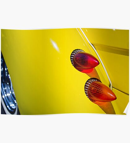 White walls, bullets, canary yellow classic Poster