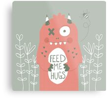 Monster Hugs Metal Print