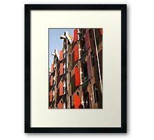 Red Shutters Framed Print