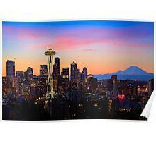 Seattle Dawn Poster