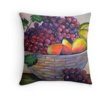 Basket of fruit.  Still life by my mom....YONEKO Throw Pillow