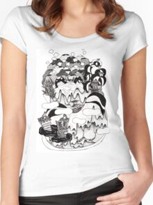 Terrain Map of Imagination Women's Fitted Scoop T-Shirt