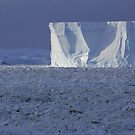 Tabular Berg and Rafted Seaice by Doug Thost