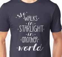 She walks in starlight Unisex T-Shirt