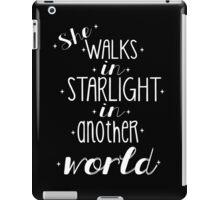 She walks in starlight iPad Case/Skin