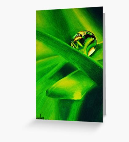 Water Droplet on a Leaf Greeting Card