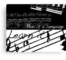 Music is a Language Canvas Print