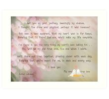 To my new bride on our wedding day Art Print
