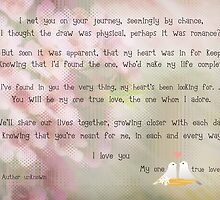 To my new bride on our wedding day by Nanagahma