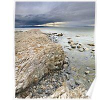 Rocky Shoreline, Great Salt Lake Poster