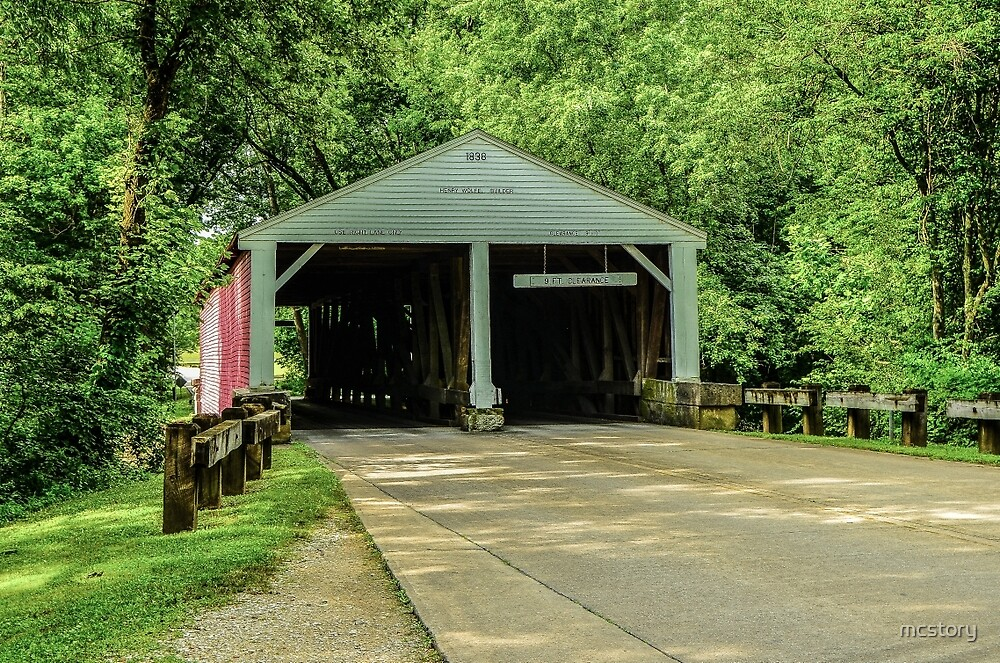 Ramp Creek Covered Bridge by mcstory