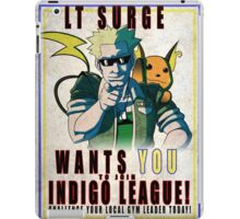 Lt. Surge Wants You! iPad Case/Skin