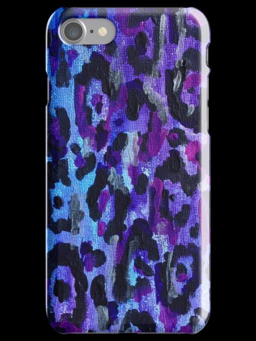 Leopard Print iPhone Case - Purple by ubiquitoid