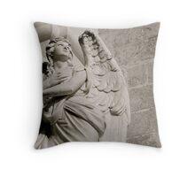 """Guardian Angel"", Building detail, Santa Maria di Leuca. Puglia, Itlay. Throw Pillow"
