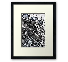 black n white + grey #2 Framed Print