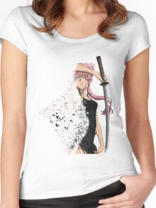 future diary mirai nikki yuno gasai disintegration anime manga shirt Women's Fitted Scoop T-Shirt