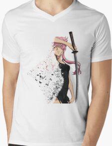 future diary mirai nikki yuno gasai disintegration anime manga shirt Mens V-Neck T-Shirt