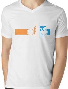 Bike Stripes Portal Mens V-Neck T-Shirt