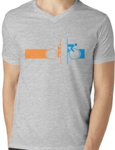Bike Stripes Portal Mens V-Neck T-Shirt
