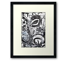 black n white + grey #3 Framed Print