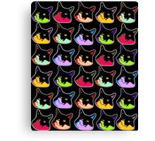 All of the Electric Tuxie Faces Canvas Print