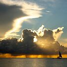 Sailboat at Sunset by Kent Nickell
