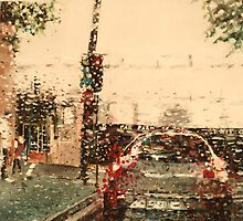 Driving along Sydney in pelting rain by Ruby  Jackson