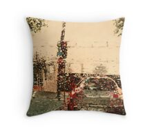 Driving along Sydney in pelting rain Throw Pillow