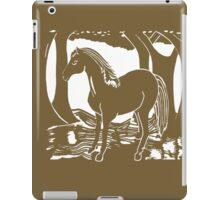 Brown Horse Printmaking Art iPad Case/Skin