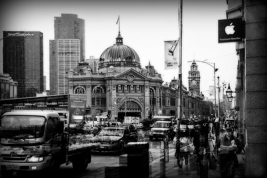 Flinders Street 0800 by scottimages