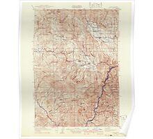 USGS Topo Map Oregon Pine 283240 1915 125000 Poster