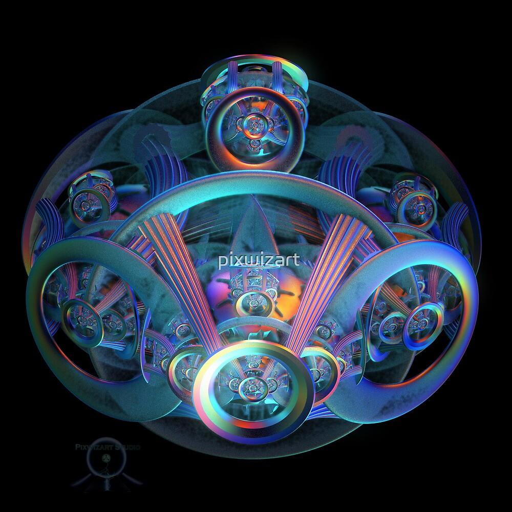 Alien Time Machine by pixwizart