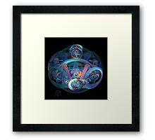 Alien Time Machine Framed Print
