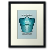 Hat Box, Don't Leave Mansion Without It. By Topher Adam Framed Print