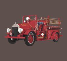 Antique Fire Engine One Piece - Short Sleeve