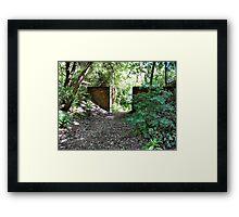 Entrance to the Secret Garden. Birchwood. UK. Framed Print