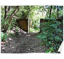 Entrance to the Secret Garden. Birchwood. UK. Poster