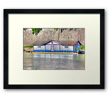 River Boat House Framed Print