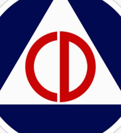 Civil Defense Emblem Sticker