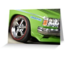 Green Holden Sandman Greeting Card