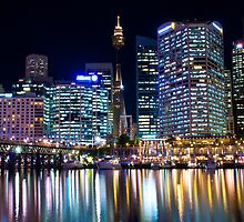 Evening at Darling Harbour by Tony Walton