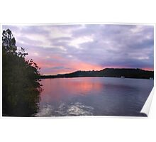 tweed river dusk... Poster