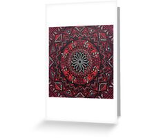 Red Mandala Greeting Card