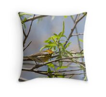 The Cape May Warbler Throw Pillow