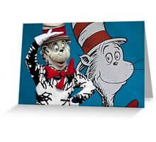 Cat in the hat. Greeting Card